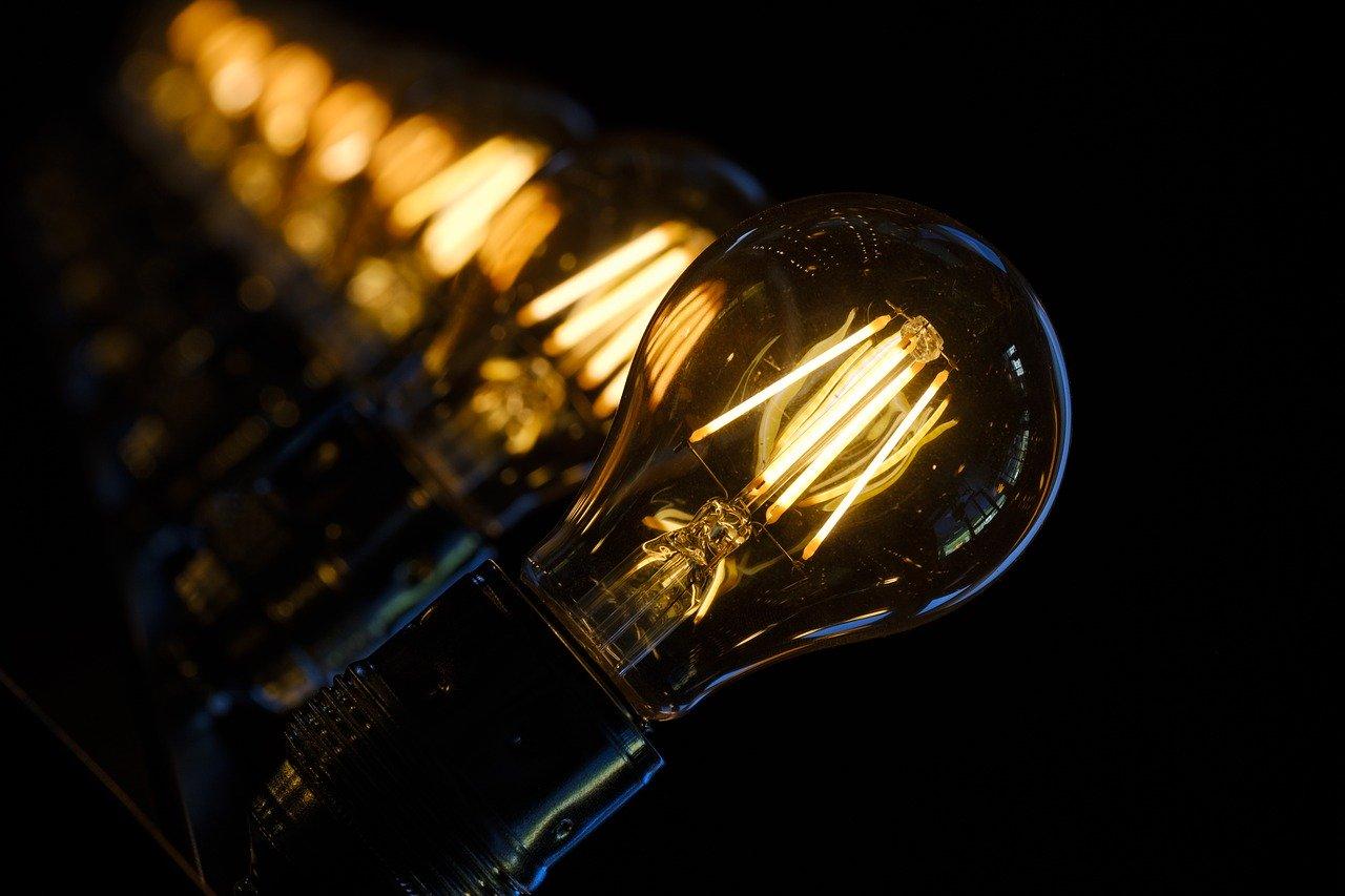 Lampe Ampoule Economique allumées