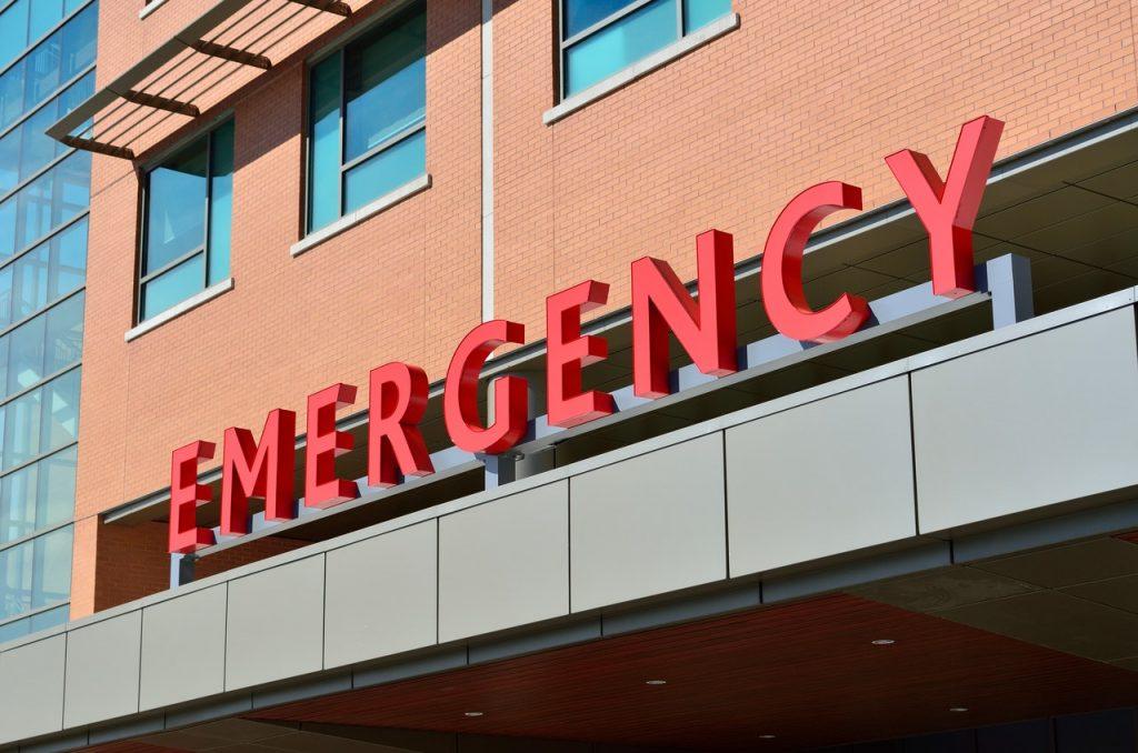 Entrée d'hôpital, urgence